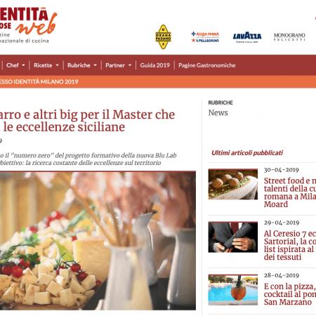 Master Class Gold Experience Sicilia in Lab in Identità Golose Web